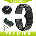 Full Ceramic Watch Band + Link Remover for Armani AR Men Women Wrist Strap Butterfly Buckle Bracelet Black White 16mm 18mm 20mm