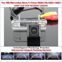 Cámara trasera Para Mercedes Benz Clase C W203 2001 ~ 2007 Pistas de Estacionamiento Inversa Inteligente TV Líneas de Orientación Dinámica Tragectory