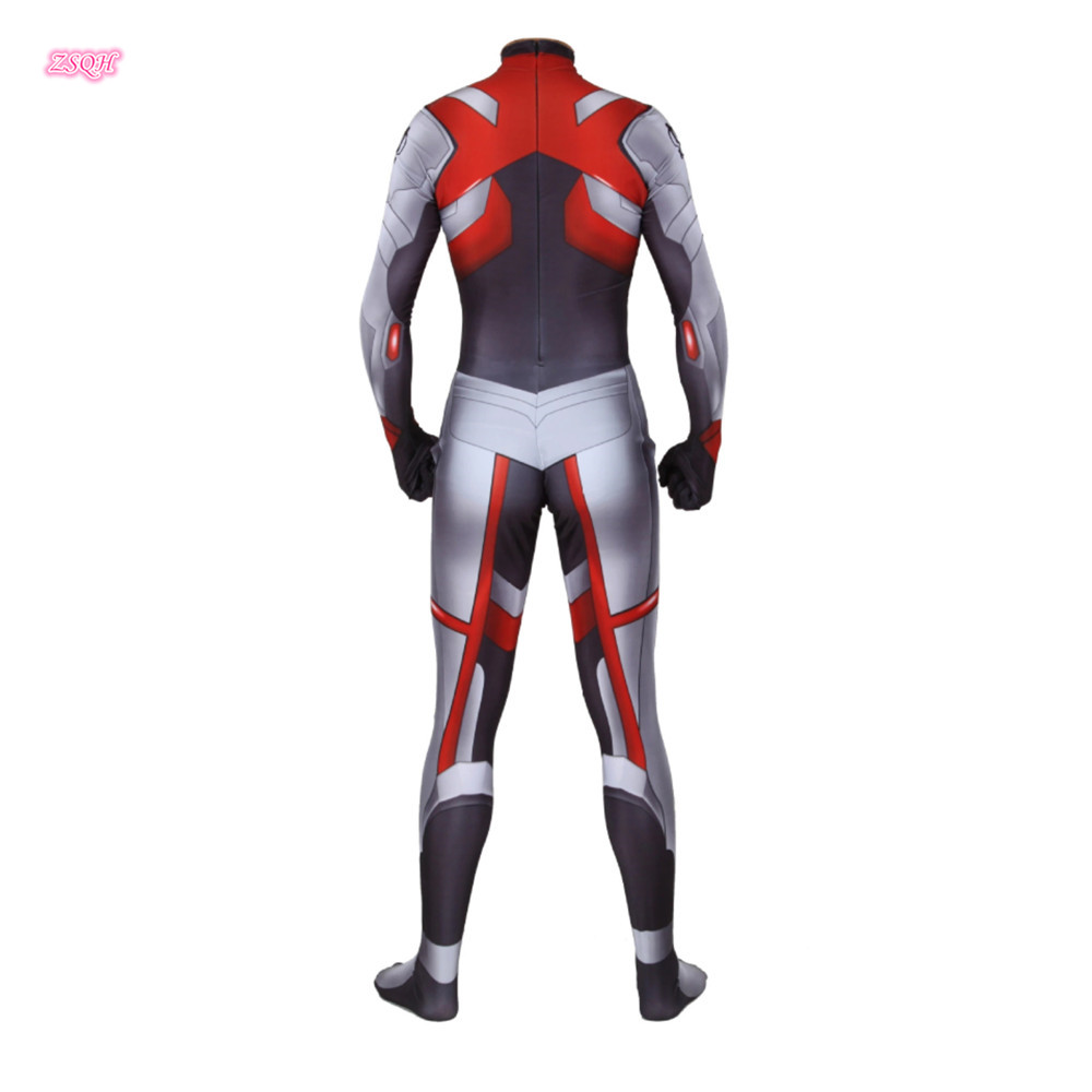 ZSQH Avengers Endgame Quantum Realm Cosplay Costume Jumpsuits Superhero Captain America Captain Marvel Costumes Bodysuit kids