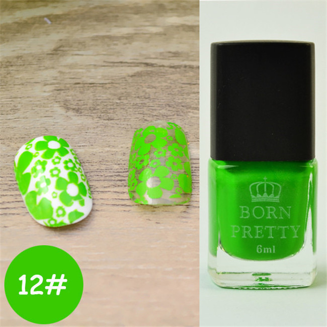 BORN PRETTY 6 ml estampado polaco Peel off Nail Art látex 25 colores ...