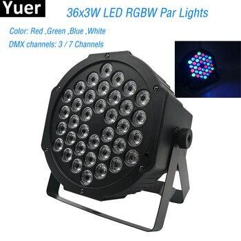 Новые профессиональные светодиодные сценические светильники 36 LED PAR-прожектор со светодиодами RGB DMX сценическое освещение DMX512 Master-Slave Led плос...