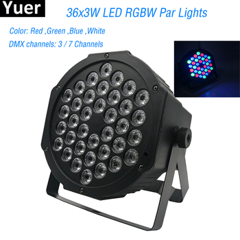 hot 2015 par led 54x3w flat led par can light high power rgbw stage lights with dmx512 master slave dj disco dmx home equipments New Professional LED Stage Lights 36 RGB PAR LED DMX Stage Lighting Effect DMX512 Master-Slave Led Flat for DJ Disco Party KTV