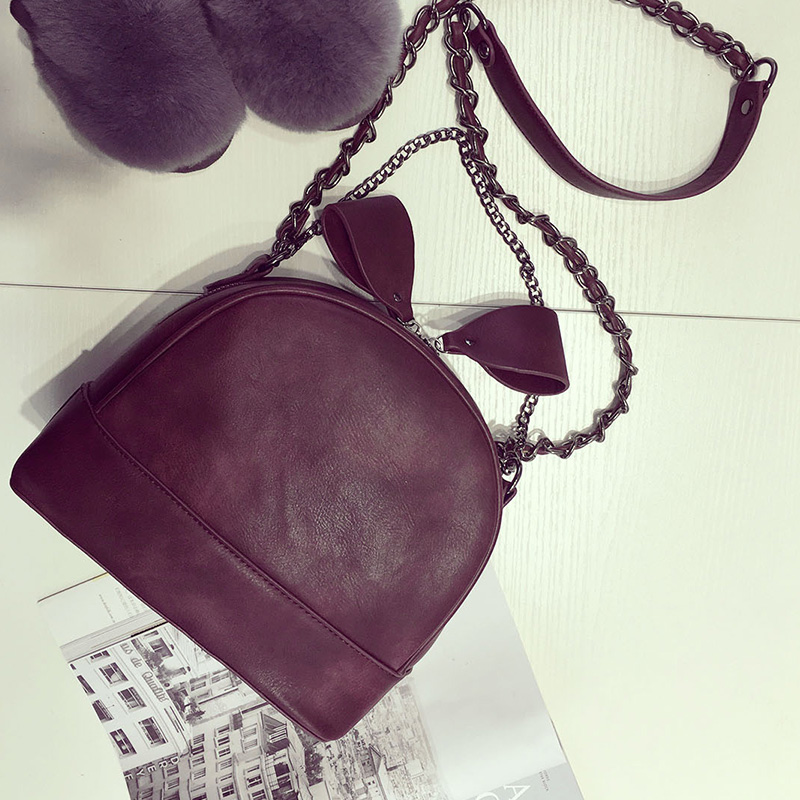 The new winter South Korea bow pull chain bag adorable fun Shoulder Bag Messenger Bag fashion female bag