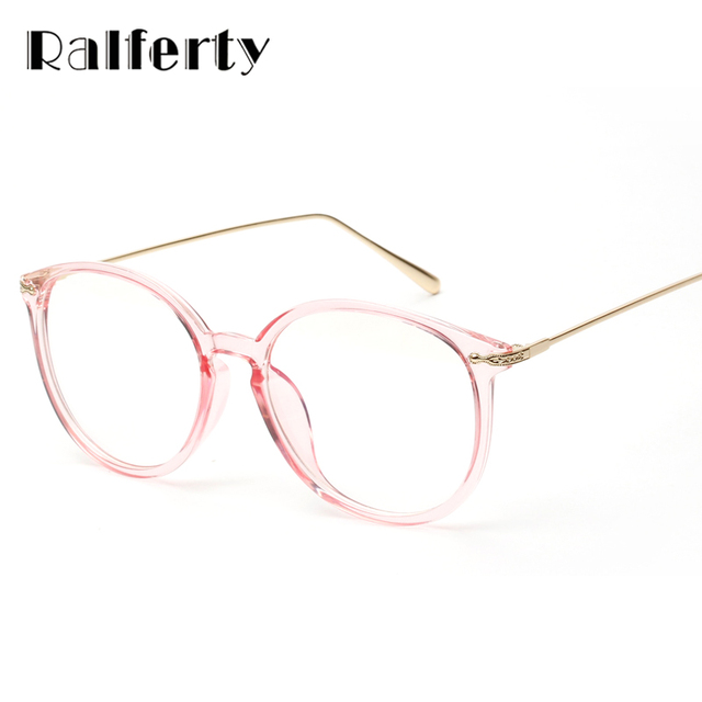 af29c6910 Ralferty oculos de grau feminino armação transparente quadro óculos com a  lente clara óculos ovais de