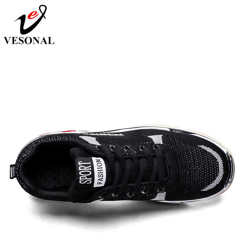Homme Automne Antidérapantes Vesonal L'usure Chaussures À Red Pour Sneakers Respirant Lumière black Printemps Caoutchouc Adulte 2018 Résistant Shoes En Casual Shoes Black Hommes Maille x8A8wUp