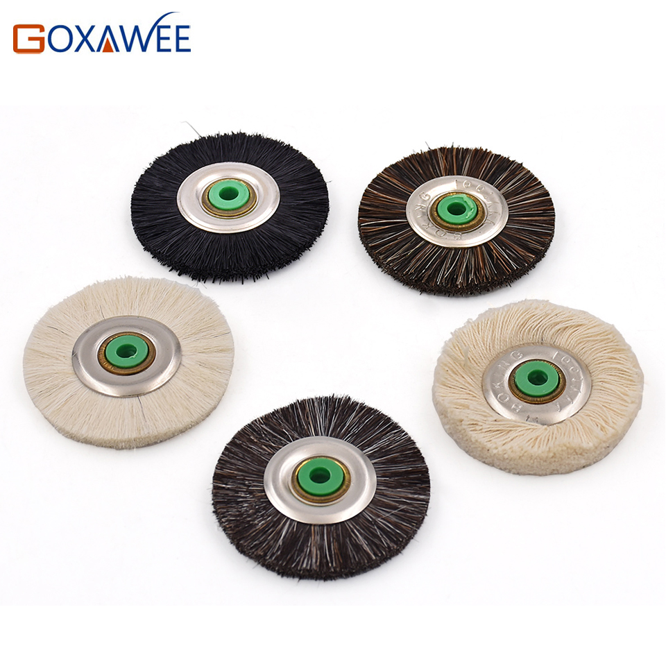 цена на GOXAWEE 10pcs Polishing Brush Wheel Abrasive Tools Grinding Wheels 48mm For Bench Grinder Abrasive Brush Soft, Medium, Hard
