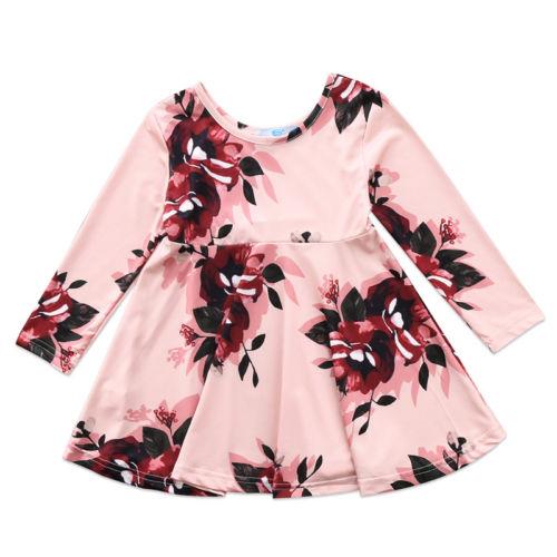 f07dd0930 Aliexpress.com   Buy Cute Baby Long Sleeve Dresses Toddler Kids Baby ...