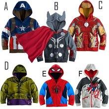 2016 New autumn iron Man kids Boy clothes long sleeve children hoodies clothing sweatshirts Coat