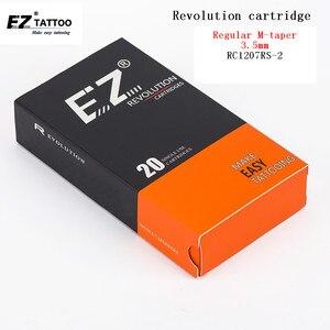 Image 1 - RC1207RS 2 EZ الثورة الوشم الإبر تعقيم خرطوشة ظلال مستديرة لآلات النظام والقبضة 20 قطعة/صندوق