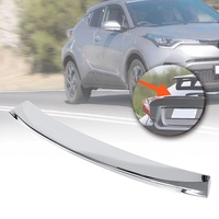 ABS Chrome Rear Door Wing Spoiler Cover Trim Decor for Toyota C HR CHR 2017 2018