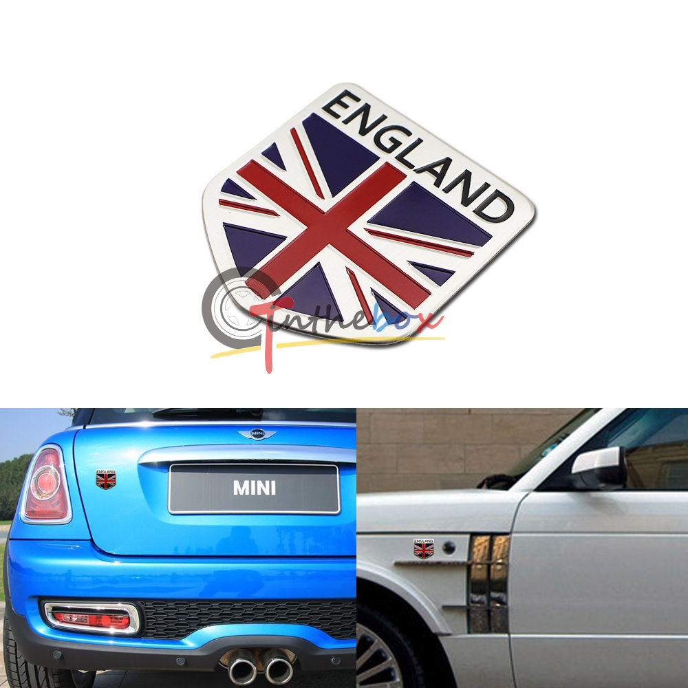 Bumper sticker creator uk -  1 Car Motorcycle Decal Racing England Uk Flag Decor Sticker 3d Emblem Badge