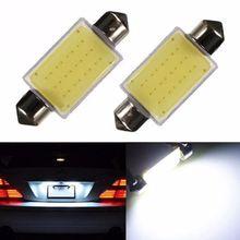 Car styling 31mm/36mm/39mm 12V Festoon LED Car Bulb Parking CANBUS C5W COB LED SIZE Interior White SMD Bulb Reading lights
