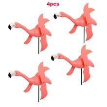 Репеллент для вредителей птиц Розовый Фламинго ветряная мельница