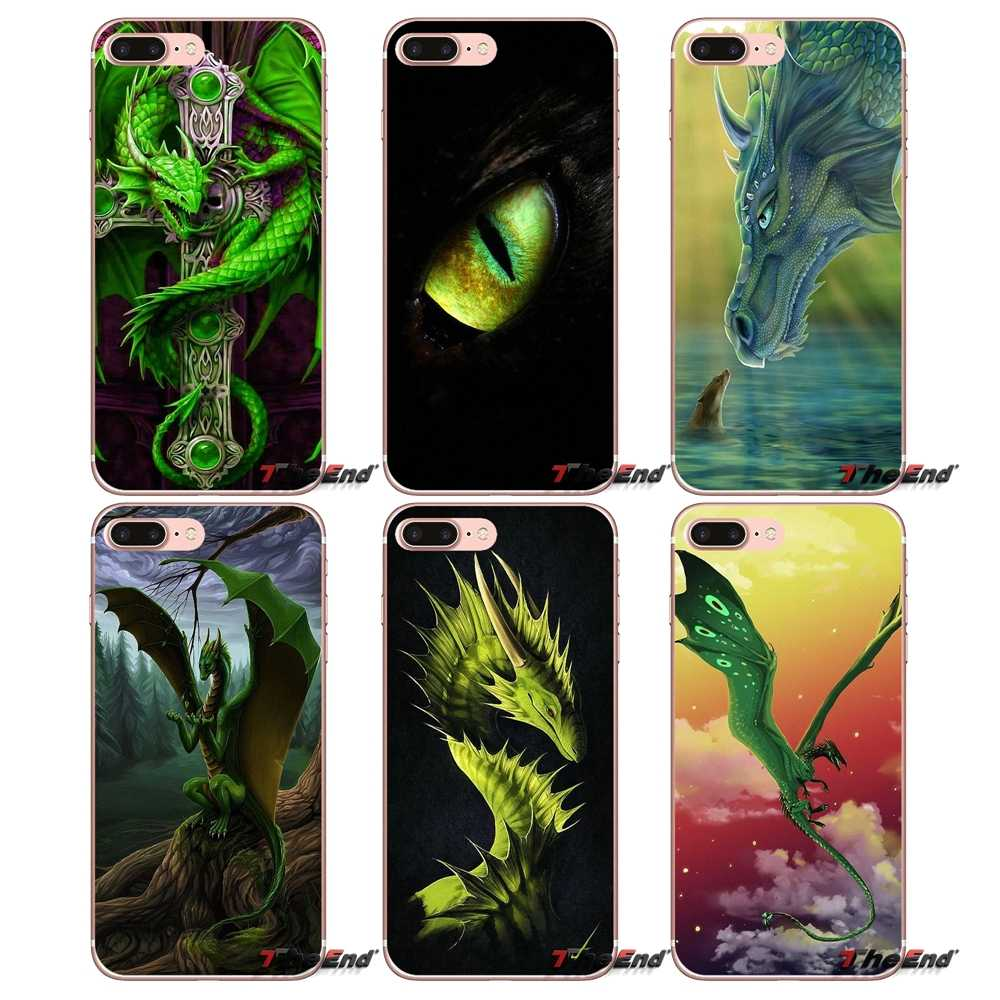 For Samsung Galaxy J1 J2 J3 J5 J7 A3 A5 A7 2015 2016 2017 J330 J530 J730 Green Dragon Lager Eye Accessories Phone Cases Covers