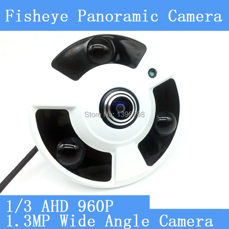 HD 1.3MP 960P 360 Degree Wide Angle Fisheye Panoramic Camera CCTV Camera AHD Infrared Surveillance Camera Security Dome Camera erasmart hd 960p p2p network wireless 360 panoramic fisheye digital zoom camera white