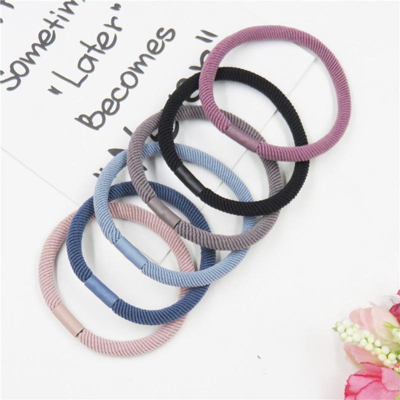 1PCS Simple 6 Colors Elastic Hair Bands For Girls Bohemian Headband Scrunchy Korean Bow Kids Hair Accessories For Women NEW 2019