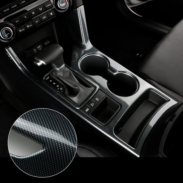 car water cup decorative cover sticker high quality carbon fiber car styling for kia sportage 2016