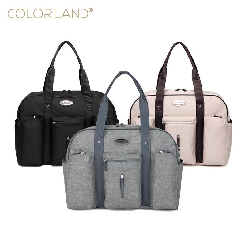 Colorland Baby Diaper Bag Organizer Fashion Mummy Maternity Bag Daddy Messenger Changing Nappy Bags Mom Mother Diaper Handbag все цены