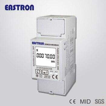 SDM220 Modbus,0,25~5(100)A 220V230V 50Hz60Hz, single phase KWH Watt hour power energy meter,with Modbus RTU,MID approved digital clock