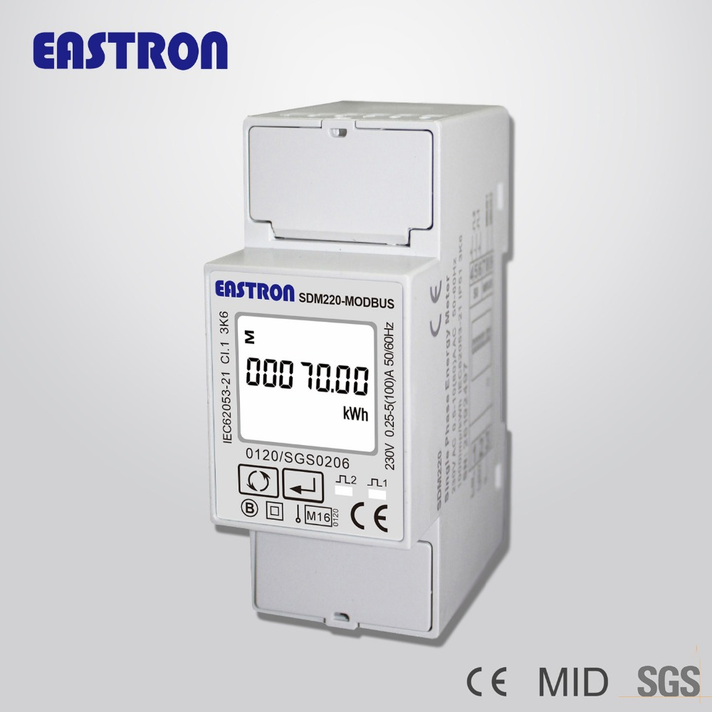 SDM220Modbus Single Phase DIN Rail Kwh meter with Pulse Output and RS485 Modbus Communication, MID approved new garmin watch 2019
