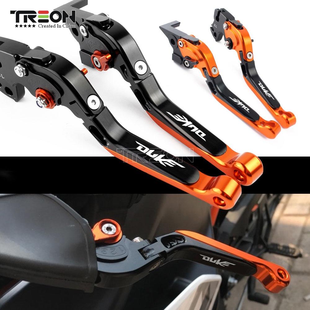 For KTM Duke 390 200 125duke 2013 2018 Frame Ornamental Foldable Brake Handle Extendable Clutch Lever