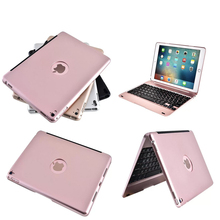 Luxury Bluetooth Keyboard Case For apple iPad pro 9.7inch, Wireless Keyboard For apple ipad air 2 ipad 6 with ABS plastic Body