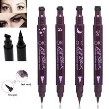 Stamp Eyeliner Double Sides Black Waterproof Liquid Eyeliner Pencil maquillaje Star Heart Shape Dot Stamp Tattoo H7JP