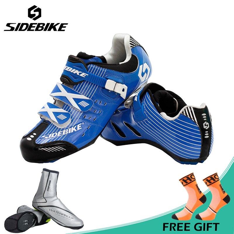 Sidebike Professionnel Chaussures de Vélo de Route Rapide Boucle autobloquante Chaussures De Vélo Route Sport Cyclisme Chaussures Zapato