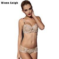 2017New Bra Ultra Thin Sexy Women Bra Set Luxury Noble Lady Lace Perspective Panty Set Transparent