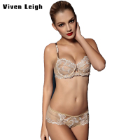 2017New Bra Ultra Thin Sexy Women Bra Set Luxury Noble Lady Lace Perspective Panty Set Transparent