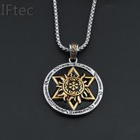 1pcs Slavic Jewelry Slavic Amulet Pendant David Of Star Talisman Silver Gold 2tone Disc Women Men