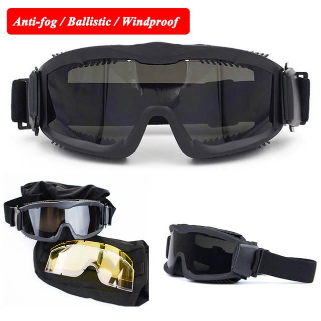 698f967b12b Online Shop Army Military Sunglasses Tactical Activities Use Anti-frog  Windproof Bulletproof Goggles CS Airsoft Sport Men Ballistic Goggles