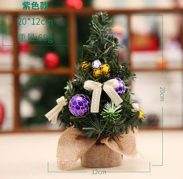 Mini Christmas tree decoration Christmas tree Christmas Day decorations exquisite decoration small trees with jewelry repor in Trees from Home Garden