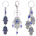 Hot Selling Dream Catcher Palm Keychain Turkey Blue Eyes Alloy Keychain Bag Pendants Women or man