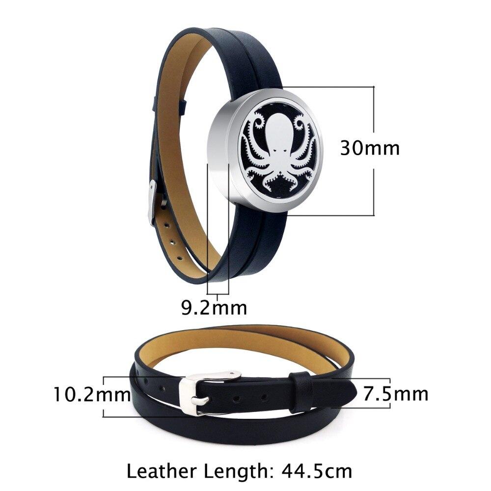 ZP-BS504-0 Diffuser Leather Locket Bracelet-3
