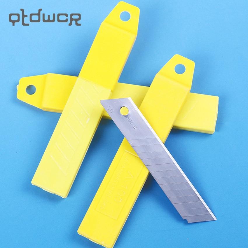 10PCS/set Office Stationery Art Blades Trimmer Sculpture Blade Utility Knife 100mm X 18mm Student Supplies