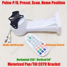 A distanza di Controllo Motorizzato Auto Pan Tilt Scanner di Sicurezza CCTV Staffa Della Macchina Fotografica RS485 PTZ Orizzontale Verticale di Rotazione Impermeabile
