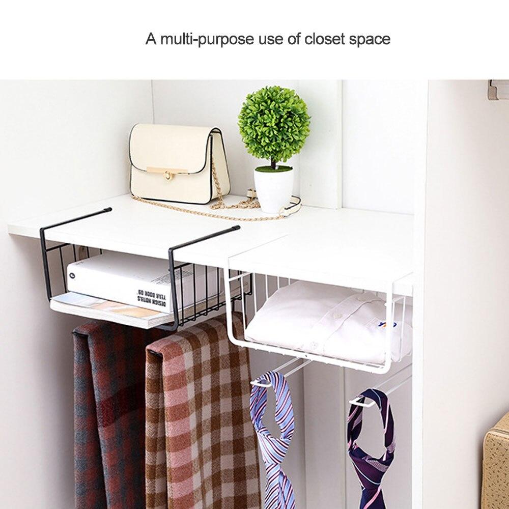 Творческий под полки легкий прочный Дизайн Кухня под полкой корзина для хранения стойки для хранения Организатор металлический держатель