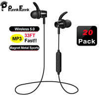 PunnkFunnk 20pack bluetooth earphone 5.0 For Phone iPhone 7,8,9,x,xr,xs Xiaomi mi Wireless Headset Stereo Earpiece Earbuds