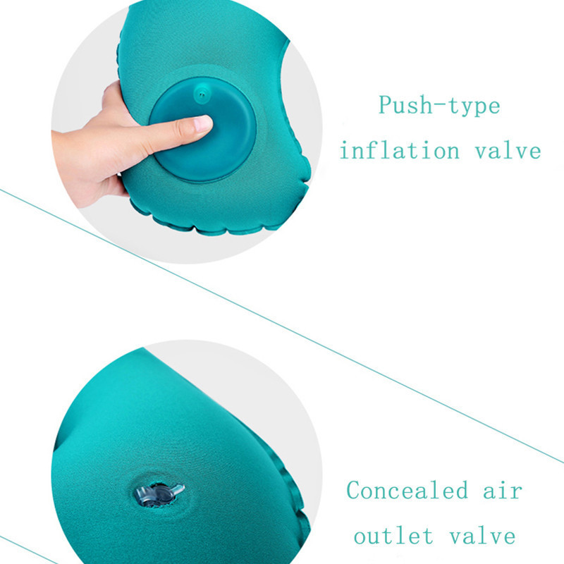 Aliviar a Fadiga Azul Travesseiros Sono Inflável Almofada