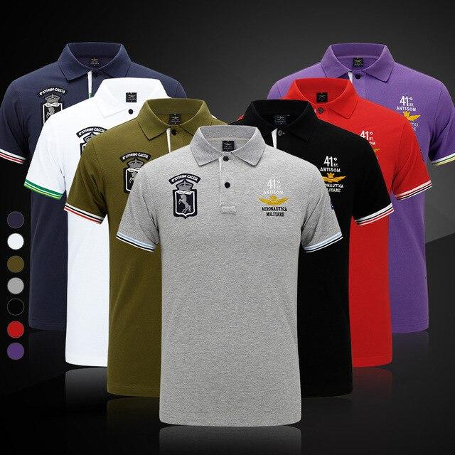 Aeronautica Militare hombres del Verano Top Camisetas 100% Algodón Air  Force One Camiseta Ocasional Bordado c4ec409cfa8ba