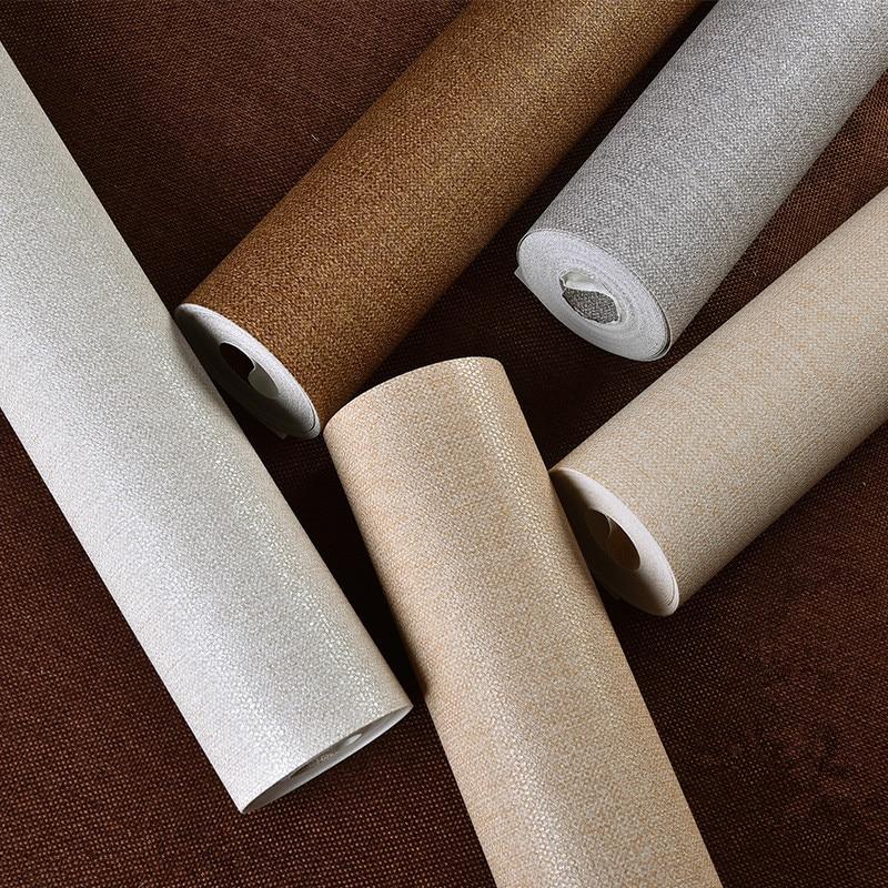 Beibehang einfarbig bunte tapeten feine dicke tapete einfachen straw ...