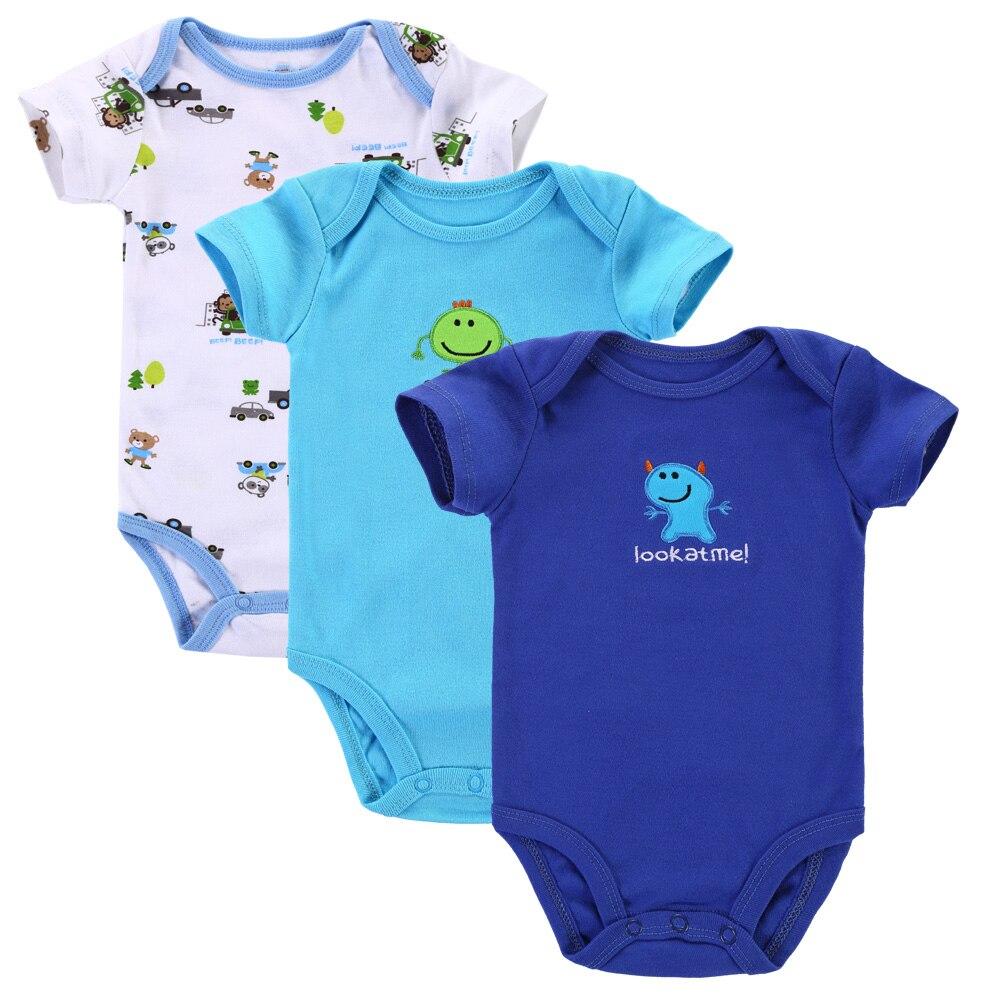 Մոտ Cutest 3 հատ / լոտ Baby Romper Ամառային - Հագուստ նորածինների համար - Լուսանկար 6