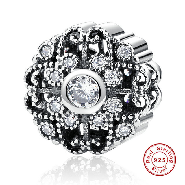 f15eeddc9 Classic 925 Sterling Silver Fairytale Bloom, Clear CZ Charms Fit Pandora  Bracelets Fashion Jewelry PAS393
