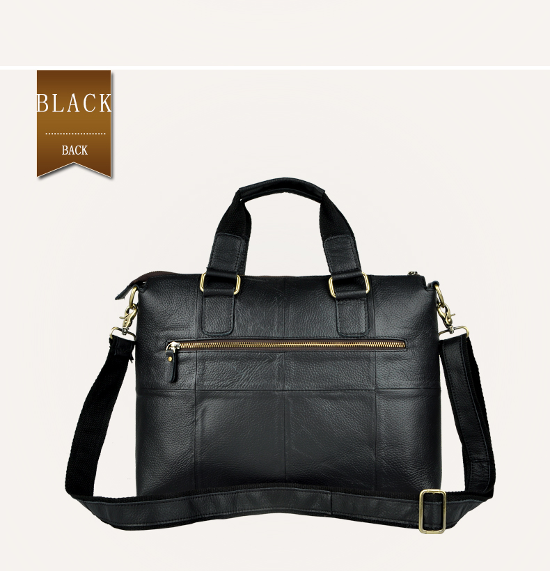 "HTB1QGMgdgnH8KJjSspcq6z3QFXac Men Genuine Leather Office Maletas Business Briefcase 15.6"" Laptop Case Attache Portfolio Bag Maletin Messenger Bag B260"