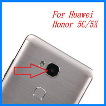 2pcs/lot XGE New Back Rear Camera lens glass replacement for Huawei Honor 5C 5X / honor5c honor5x with Sticker top quality