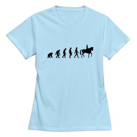 100 Cotton Horse Riding Evolution Women S T Shirt Top Designer Simple Style Ladies Tshirt