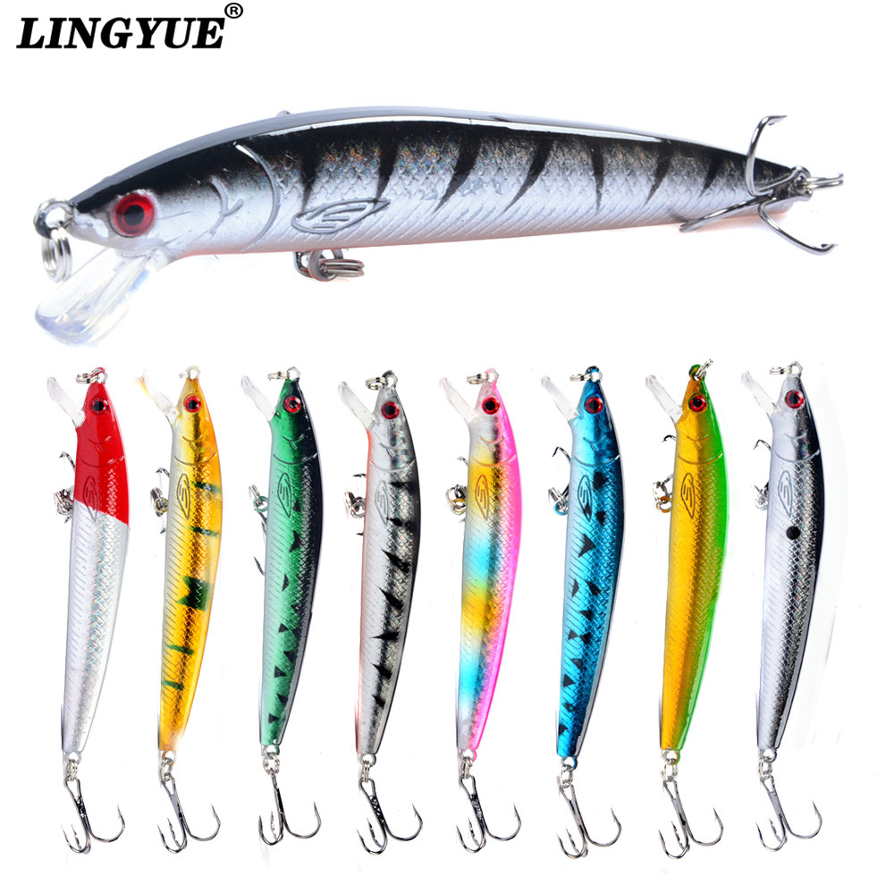 New Lifelike 8Colors 10cm/7.5g Fishing Lures 3D Eyes Artificial Crankbait Hard Baits Quality Professional Bass Fishing Tackle