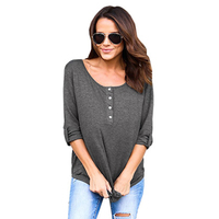Casual Woman Blouse Shirt Long-Sleeve Pullover Basic Blusas Femme 2017 Women's Blouses And Tops Tee Shirts Tunic WS3940Z