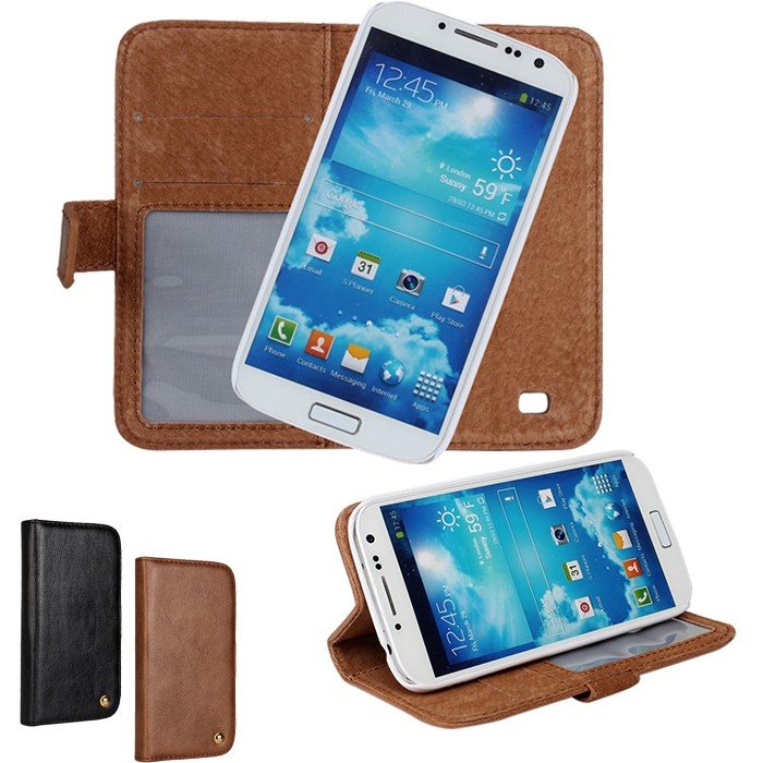 Fundas For Samsung Galaxy S4 Cases Cover Genuine Leather Mobile Phone Wallet Bag Accessory For Samsung